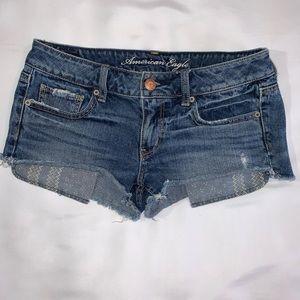 American Eagle cut off denim shorts